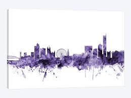 manchester england skyline by michael tompsett 1 piece art print  on manchester skyline wall art with manchester england skyline canvas wall art by michael tompsett