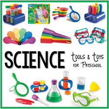 The idea behind these activities is that you collect the materials and pop them into a box or tray ready for kids to use! Science Center Set Up And Ideas For Preschool