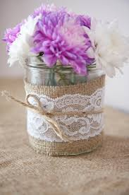 Decorating Jars With Lace decorating jam jars with lace wedding ideas Pinterest Jar 2