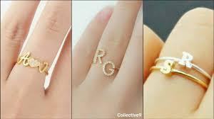 Gold Initial Ring Design Name Ring Custom Initial Ring Designs Custom Initial Rings