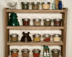 Rustic Spice Rack, Barn wood, Country Chic Spice Rack, Wood Spice Rack,