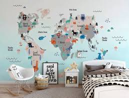 map wall sticker decal
