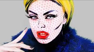 pop art ic book makeup roy lichtenstein andy warhol tutorial