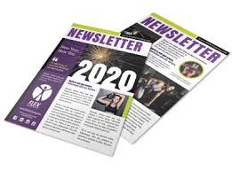 Wellness Newsletter Templates New Years Fitness Newsletter Template