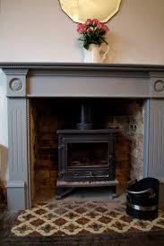 how to tile a gas fireplace surround faux wood trim and an electric log my diy