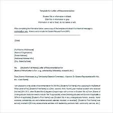 Scholarship Recommendation Letter Template Letter Of Recommendation ...