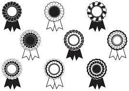 Black And White Rosette Award Brushes Pack Free Photoshop Brushes