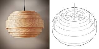 wood veneer lighting. Wood Veneer Boll Chandelier Pendant Lighting - Wood-lamps, Pendant-lighting Wood Veneer Lighting H