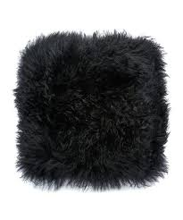 mongolian lamb throw black fur pillow blanket pillows sheepskin area rug