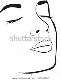 Vector Download Silhouette Lines Of The Womans Face Isolated On
