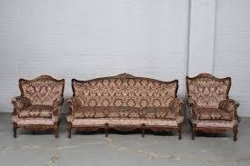 old walnut vintage sofa set