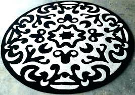 black and white circular rug interior round fancy custom petite various 8 striped circle half circ black and white checd round rug