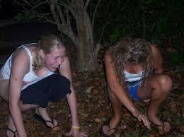 Outdoor female amateur pee