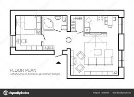 simple architecture design drawing. Wonderful Design Outline Vector Of Simple Furniture Plan Floor Plan Symbol As Architecture  Design Elements A For Simple Architecture Design Drawing D
