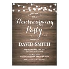 Rustic Wood Housewarming Party Invitation Card
