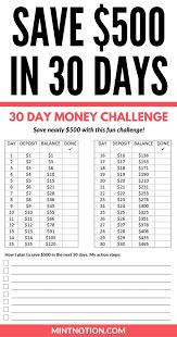 Money Challenge How To Save 500 In 30 Days Money Saving