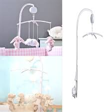 crib mobile arm pure white baby toy rattles bracket set cot mobile bed toys holder arm crib mobile arm