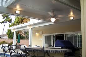 patio cover lighting ideas. wonderful alumawood patio covers in white with fan and lights matched cream siding plus dining cover lighting ideas o
