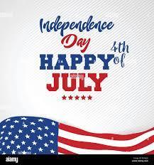 4 luglio felice giorno di indipendenza degli Stati Uniti America Immagine e  Vettoriale - Alamy