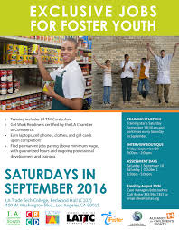 Flyer Jobs Exclusive Jobs For Foster Youth Extraordinaryfamilies