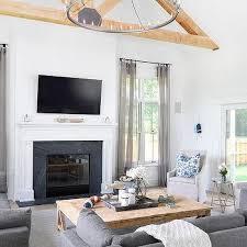 flat screen living room ideas. contemporary cottage living room with truss ceiling flat screen ideas
