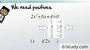 solving quadratic trinomials by factoring lesson transcript study com