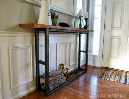 skinny console table. DIY Console Table - Skinny Entryway A
