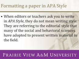 the writing center presents ppt formatting a paper in apa style