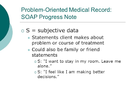 Soap Progress Note Soap Notes Other Progress Notes Ppt Video Online Download