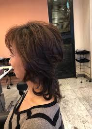 40代50代60代ヘアスタイル髪型ミディアム ヘアスタイル 60代 ヘア