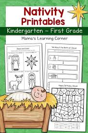 Nativity Worksheet Packet for Kindergarten and First Grade - Mamas ...
