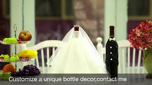 my genius friend find awesome ideas to make wedding wine bottle centerpiece  - YouTube