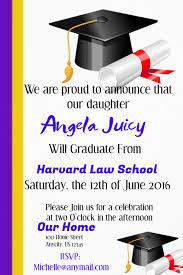 Templates For Graduation Invitations Graduation Invite Template Postermywall