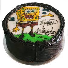 Jual Simple Chocolate White Spongebob Cake Kado Makanan Harga Rp