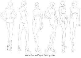 30 Drawn Templates Fashion Illustration Free Clip Art Stock
