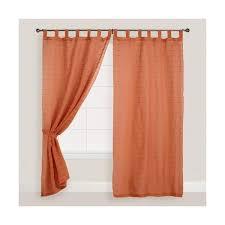cost plus world market burnt orange striped sahaj jute tab top 40 liked on polyvore featuring home home decor window treatments curtains