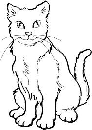Small Picture Cute Cat Coloring Pages Coloring Coloring Pages