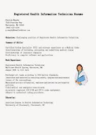Registered Health Information Technician Resume Sample Vinodomia