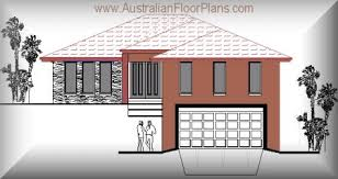 HOUSE PLANS hillside bed Home Designs for sloping land modern    hillside home plans