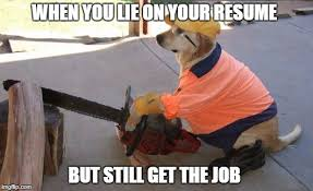 Lies On Your Resume Imgflip Extraordinary When You Lie On Your Resume