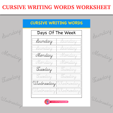 cursive word practice cursive writing words worksheet inky treasure