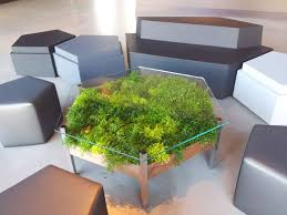 Planter coffee table Marble This Glass Top Enables You To View The Ferns And Moss Underneath While Still Functioning As Coffee Table Contemporist 13 Awesome Furniture Designs That Have Builtin Space For Plants