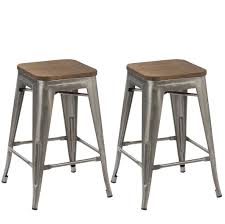 24 inch wooden bar stools. Contemporary Inch 24inch Metal Vintage Gunmetal Distressed Bar Stool Modern Wood Top Seat 2 To 24 Inch Wooden Stools W