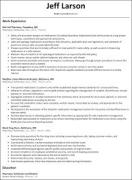 Pharmacy Technician Resume Templates Delectable Pharmacist Resume Sample Free Download Hospital Pharmacistesume In