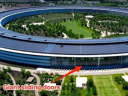 lunchtime got a whole lot more exciting tim cook posts gif of apple park s spectacular sliding doors