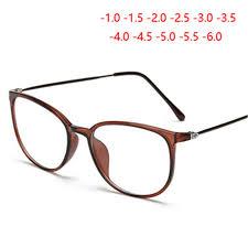 Ultralight <b>TR90</b> Finished <b>Myopia Glasses</b> Women <b>Men</b> Retro Oval ...