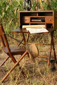 explorers once carried portable desk like this as they traveled around the world we present