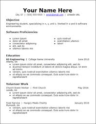 College Student Resume Examples No Experience No Work Experience Resume Templates Free To Download