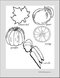 Small Picture Coloring Page Orange Things abcteach