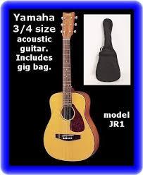 yamaha jr1. yamaha jr1 3/4 scale mini folk guitar with gig bag case jr1